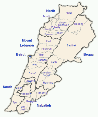 map-of-lebanon